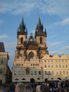 Old Town Square in Prague during the 2006 FIFA World Cup Final