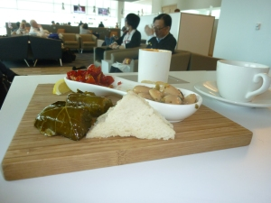 Food offerings in the SJC Airspace Lounge