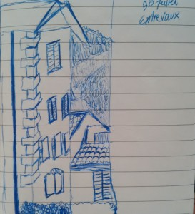 Sketch of Entrevaux